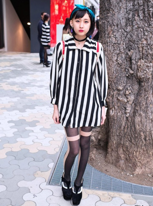 Striped-Shirt-Suede-Heels-Harajuku-2013-03-10-DSC1710-600x900